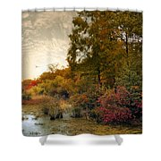 Botanical Wetlands Shower Curtain