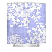 Botanicals Baby Blues Shower Curtain