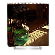 Bottle And Light Shower Curtain
