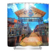 Bottle Cap Alley Shower Curtain by David Morefield