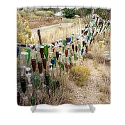 Bottle Fence. Shower Curtain