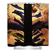 Bottle Tree Sunrise Shower Curtain