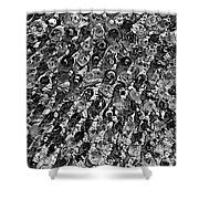Bottle Wall Black And White Shower Curtain