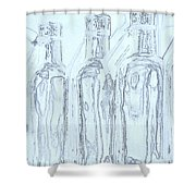 Bottles 2 Shower Curtain