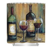 Bottles Of Red Shower Curtain