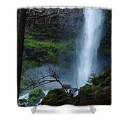 Bottom Of Watson Falls Shower Curtain