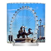 Boudica Riding The Millennium Wheel Shower Curtain