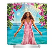 Bougainvillea - Purify Shower Curtain by Anne Wertheim