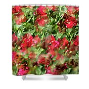Bougainvillea Repeating Pattern Abstract I Shower Curtain