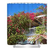Bougainvillea Villa Shower Curtain