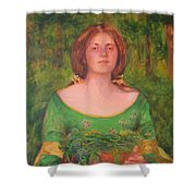 Bouguereau Girl In The Cross Timbers Of Oklahoma Shower Curtain