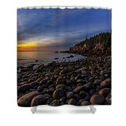 Boulder Beach Sunrise Shower Curtain