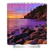 Boulder Beach Sunrise Shower Curtain