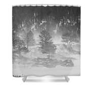 Boulder Canyon And Nederland Winter Landscape Shower Curtain