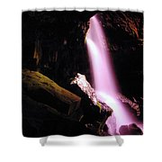Boulder Cave Falls From The Side  Shower Curtain