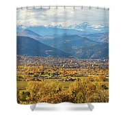 Boulder Colorado Autumn Scenic View Shower Curtain