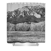 Boulder Colorado Flatiron View From Jay Rd Bw Shower Curtain