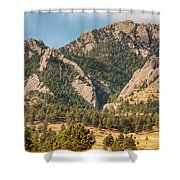 Boulder Colorado Rocky Mountain Foothills Shower Curtain