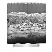 Boulder County Continental Divide Panorama Bw Shower Curtain