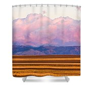 Boulder County Farm Fields At First Light Sunrise Shower Curtain