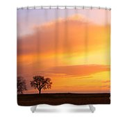 Boulder County Sunrise Shower Curtain