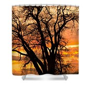 Boulder  County Sunset Shower Curtain