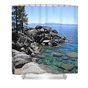 Boulder Cove On Lake Tahoe Shower Curtain