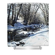 Boulder Creek After A Snowstorm Shower Curtain