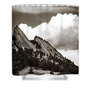 Large Cloud Over Flatirons Shower Curtain