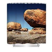 Boulder On Solid Rock Shower Curtain