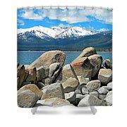 Boulder Shore Lake Tahoe Shower Curtain
