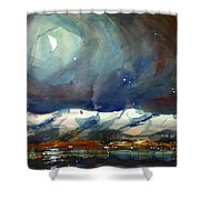 Boulder Winter Night Shower Curtain