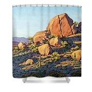 Boulders By Pinnacle Peak Mountain Shower Curtain