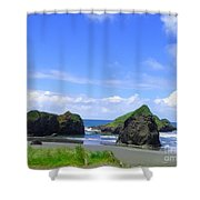 Boulders In Oregon Shower Curtain