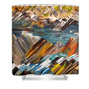Boulders In The River Shower Curtain