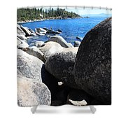 Boulders On Lake Tahoe Shower Curtain