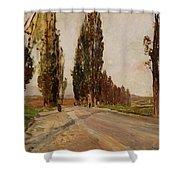 Boulevard Of Poplars Near Plankenberg Shower Curtain