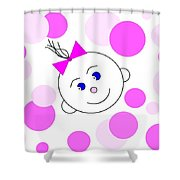 Bouncing Baby Girl Shower Curtain