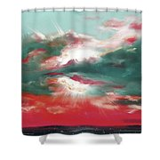 Bound Of Glory 2 - Square Sunset Painting Shower Curtain
