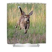 Bounding Bambi Shower Curtain