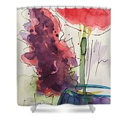 Bouquet Abstract 1 Shower Curtain