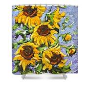 Bouquet Del Sol Sunflowers Shower Curtain