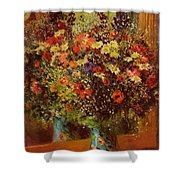 Bouquet In Front Of A Mirror 1877 Shower Curtain