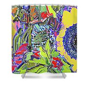 Bouquet In Yellow And Red Shower Curtain