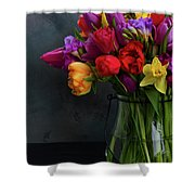 Spring Flowers In Vase Shower Curtain
