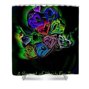 Bouquet Of Hearts Shower Curtain
