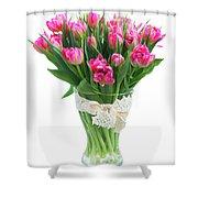Vase Of Tulips Shower Curtain