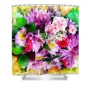 Bouquet Of Purple Shower Curtain