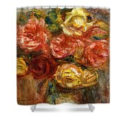 Bouquet Of Roses In A Vase 1900 Shower Curtain