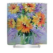 Bouquet Of Sunflowers Shower Curtain